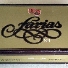 Cajas de Puros: CAJA DE PUROS EN CARTON. 20 CIGARROS FARIAS Nº1. TABACALERA, S.A. (VACÍA). Lote 152451042