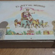 Cajas de Puros: ANTIGUA CAJA PUROS VACIA EL REY DEL MUNDO.25 DEMI TASSE.CUBA. Lote 153048602