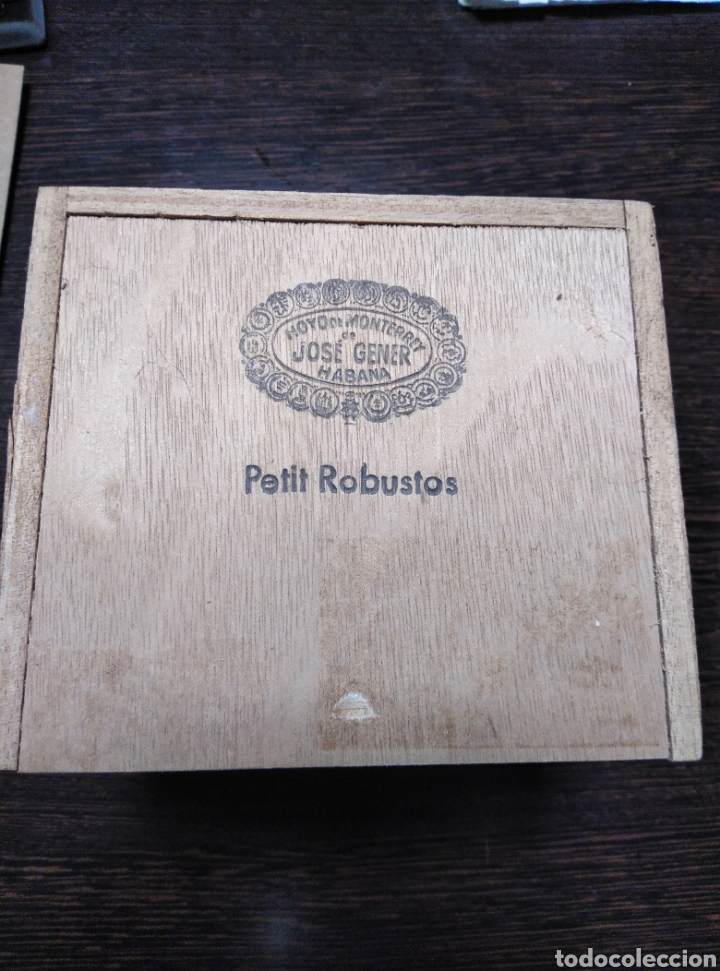 Cajas de Puros: Caja de puros vacia JOSÉ GENER-PETIT ROBUSTOS - Foto 3 - 153872045