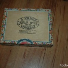 Cajas de Puros: CAJA DE MADERA DE PUROS. BALSA HERMANOS. LA PRUEBA. VERACRUZ. MEXICO VACIA . Lote 154504590