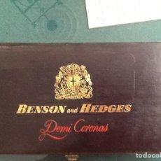 Cajas de Puros: CAJA DE PUROS DE MADERA BENSON AND HEDGES. Lote 156589990