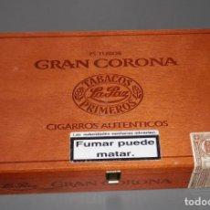 Cajas de Puros: CAJA DE MADERA DE LOS TABACOS LA PAZ. Lote 157120406