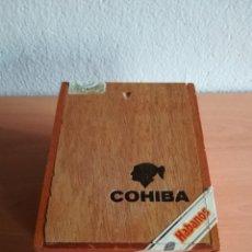 Cajas de Puros: CAJA DE PUROS HABANOS VACÍA COHIBA SIGLO IV - LA HABANA CUBA - DE MADERA. Lote 158007513