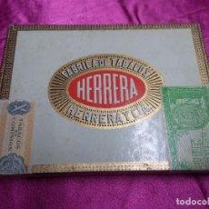 Cajas de Puros: CAJA DE PUROS HERRERA Y CIA. ISLAS CANARIAS - CONTIENE 10 TUBULARES, CAJA SIN ABRIR. Lote 158657326