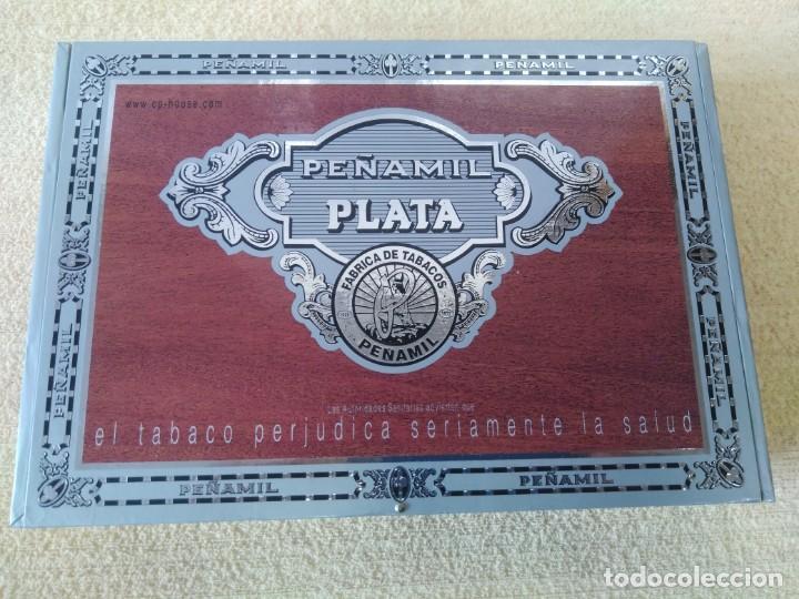 CAJA 25 PUROS PEÑAMIL PLATA (Coleccionismo - Objetos para Fumar - Cajas de Puros)