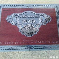 Cajas de Puros: CAJA 25 PUROS PEÑAMIL PLATA. Lote 158985638