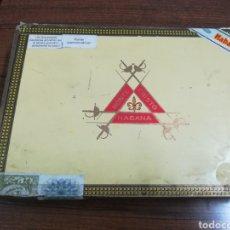 Cajas de Puros: CAJA VACÍA PUROS HABANOS MONTECRISTO Nº 3. Lote 159235912