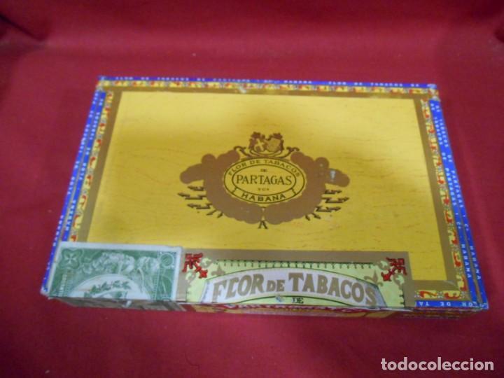 Cajas de Puros: CAJA DE PUROS DE MADERA - PARTAGAS FABRICA DE CIGARROS -25 HABANEROS - LA HABANA CUBA - - Foto 2 - 159416522