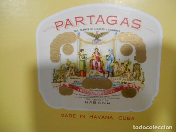 Cajas de Puros: CAJA DE PUROS DE MADERA - PARTAGAS FABRICA DE CIGARROS -25 HABANEROS - LA HABANA CUBA - - Foto 7 - 159416522