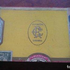 Cajas de Puros: ANTIGUA CAJA DE CIGARROS CIFUENTES HABANA CUBA 10 CRISTALTUBOS FABRICA TABACOS. Lote 160148326