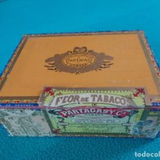 Cajas de Puros: ANTIGUA CAJA DE PUROS DE MADERA VACIA - PARTAGAS - 25 PETIT CORONAS TUBULARES - HABANA - CUBA. Lote 160216710