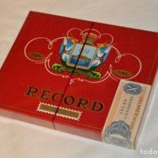Cajas de Puros: DE COLECCIÓN - PRECINTADA - ANTIGUA - VINTAGE - CAJA DE 10 PUROS RECORD XXX - CANARIAS - ¡MIRA!. Lote 160883362