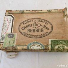 Cajas de Puros: CAJA DE PUROS QUINTERO Y HNO -HABANA -CIENFUEGOS -CUBA. Lote 161382802