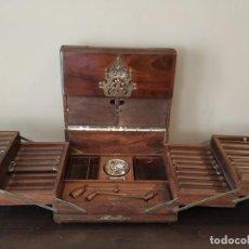 Cajas de Puros: ANTIGUA TABAQUERA SIGLO XIX - CAJA PUROS - CIGARRERA - GRAN LUJO. Lote 161467162