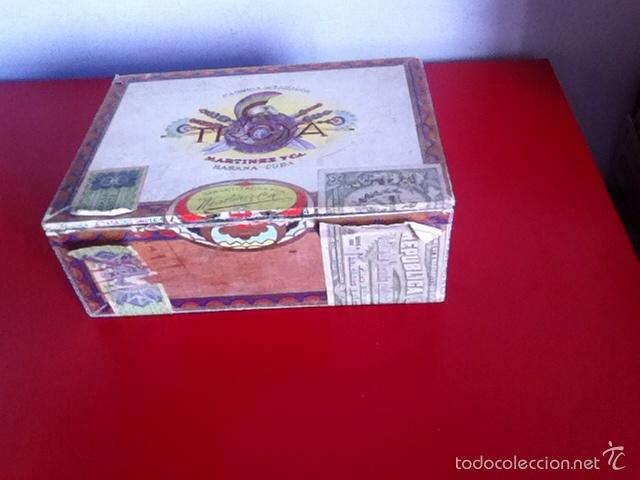 CAJA PUROS. TROYA -25 CORONA CLUB- VACÍA (Coleccionismo - Objetos para Fumar - Cajas de Puros)