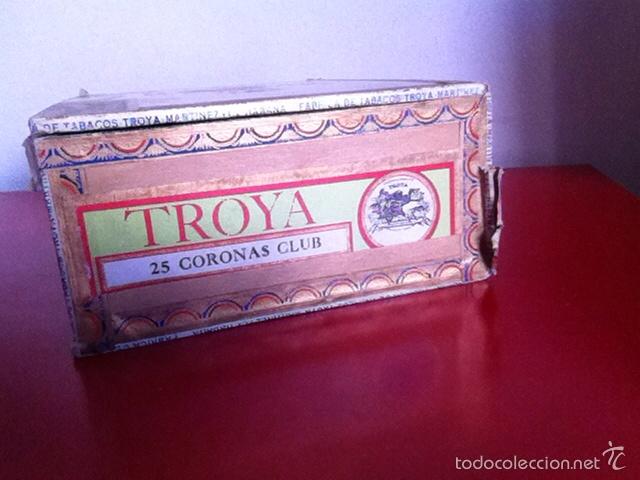 Cajas de Puros: CAJA PUROS. TROYA -25 Corona Club- VACÍA - Foto 3 - 162453466