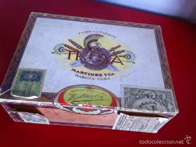 Cajas de Puros: CAJA PUROS. TROYA -25 Corona Club- VACÍA - Foto 4 - 162453466