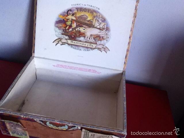 Cajas de Puros: CAJA PUROS. TROYA -25 Corona Club- VACÍA - Foto 5 - 162453466