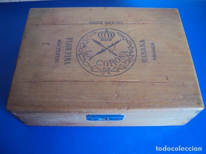 (TA-190500)CAJA LA CORONA - HABANA - CUBA (Coleccionismo - Objetos para Fumar - Cajas de Puros)