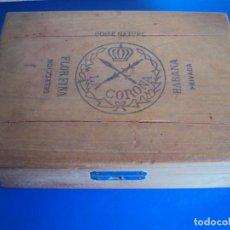 Cajas de Puros: (TA-190500)CAJA LA CORONA - HABANA - CUBA. Lote 162466690