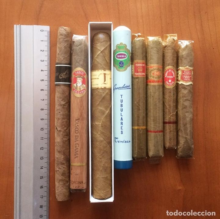 LOTE 8 PUROS. AL CAPONE, VASCO DA GAMA, TABANTILLAS, ORMOND JUBILÉ, TENISCA, GLORIA PALMERA. (Coleccionismo - Objetos para Fumar - Cajas de Puros)