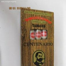 Cajas de Puros: CAJA PUROS 5 CENTENARIO LA CUMANESA GUACHAROS DE TRIPA . VENEZUELA - TABACO CRIOLLO. Lote 164595302