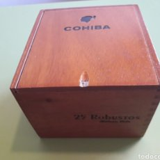 Cajas de Puros: CAJA DE COHIBA 25 ROBUSTOS VACIA. Lote 164617454