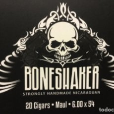 Cajas de Puros: CAJA MADERA PUROS BONESHAKER NICARAGUA VACIA STRONGLY 20 CIGARS MAUL. Lote 165672342
