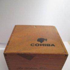 Cajas de Puros: CAJA DE PUROS VACIA - DE MADERA - COHIBA - 25 ROBUSTOS - HECHO EN CUBA - 13X13X10. Lote 167044548