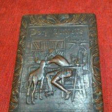 Cajas de Puros: CAJA DE PUROS DON QUIJOTE EN RELIEVE. Lote 168378389
