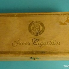 Cajas de Puros: CAJA VACÍA DE MADERA SUPER CIGARILLOS LIONS QUALITY. 100 CIGARRILLOS. Lote 168630148