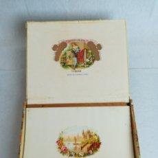 Cajas de Puros: CAJA VACIA ROMEO Y JULIETA, CHURCHILLS DEL ABRIL 1985 (EUL) - CAJA VACIA. Lote 168857072
