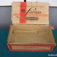 Cajas de Puros: ANTIGUA CAJA DE PUROS FARIAS. Lote 169048036