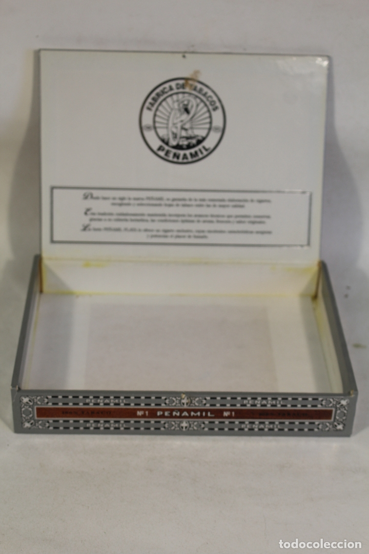 Cajas de Puros: Caja de puros vacía Peñamil Plata, 25 especiales. - Foto 3 - 169258268
