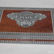 Cajas de Puros: CAJA DE PUROS VACÍA PEÑAMIL PLATA, 25 ESPECIALES. . Lote 169258268