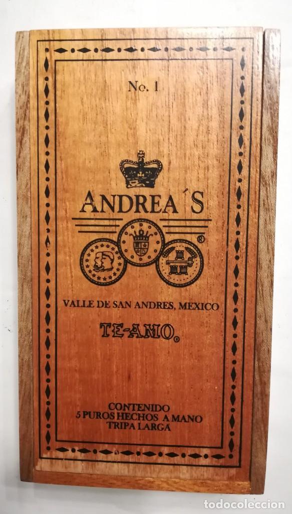 Cajas de Puros: Caja de 5 puros Andrea 's n. 1 de Te amo. México, nueva - Foto 2 - 169606216