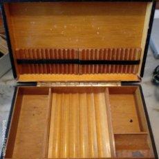 Cajas de Puros: CAJA CIGARRERA PUROS HABANOS TABACO MADERA. Lote 169819492