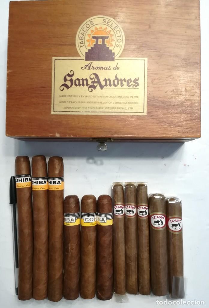LOTE DE PUROS COHIBA CUBA: 3 COHIBA ROBUSTOS + 3 COHIBA ESPLENDIDOS+3 TEAMO N.7+2TEAMO TORITO+CAJA (Coleccionismo - Objetos para Fumar - Cajas de Puros)