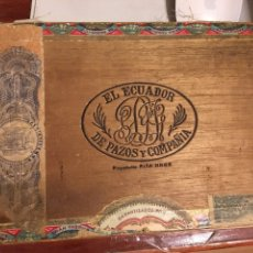 Cajas de Puros: CAJA 25 CORONAS ESPECIALES EL ECUADOR DE PAZOS Y COMPAÑIA-HABANA-MUY RARA. Lote 169936744