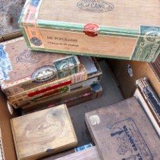 Cajas de Puros: INTERESANTE LOTE ANTIGUAS VACÍAS CAJAS DE PUROS. Lote 169973214
