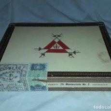 Cajas de Puros: CAJA DE PUROS MONTECRISTO Nº 3 HABANA CUBA VACÍA. Lote 170006144