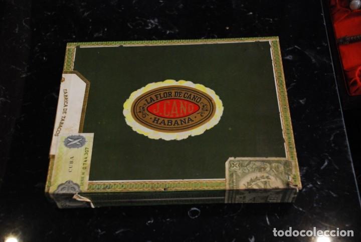 ANTIGUA CAJA DE PUROS LA FLOR DE CANO 10 CRISTALES SIN ESTRENAR (Coleccionismo - Objetos para Fumar - Cajas de Puros)