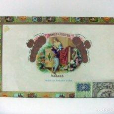 Cajas de Puros: CAJA VACÍA ROMEO Y JULIETA 25 CORONITAS EN CEDRO HABANA CUBA - PURO PUROS CIGARRO TABACO CIGARROS. Lote 170111308