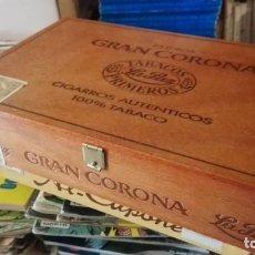 Cajas de Puros: CAJA DE PUROS DE MADERA LA PAZ, 25 TUBOS GRAN CORONA (VACÍA).. Lote 170933285