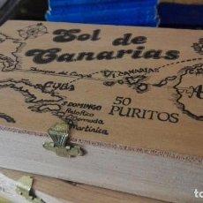 Cajas de Puros: CAJA VACIA PUROS SOL DE CANARIAS. Lote 170933415