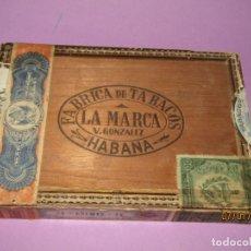 Cajas de Puros: CAJA DE PUROS HABANOS VACIA 25 CREMAS LA MARCA DE V. GONZALEZ PRE REVOLUCIÓN MADE IN HAVANA CUBA. Lote 170938000