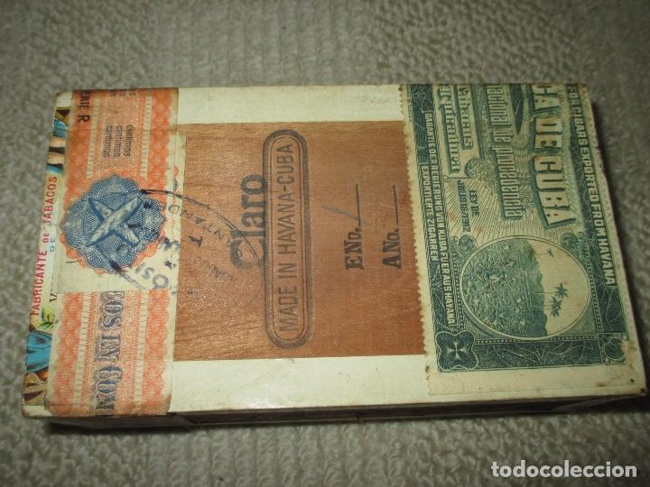 Cajas de Puros: Caja puros habanos vintage La Escepción de José Gener, con 8 habanos de diversas marcas y 11 puros - Foto 4 - 170955318
