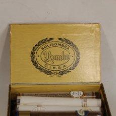 Cajas de Puros: CAJA DE PUROS RUMBO CON LOTE DE 17 PUROS VARIOS. Lote 171002923
