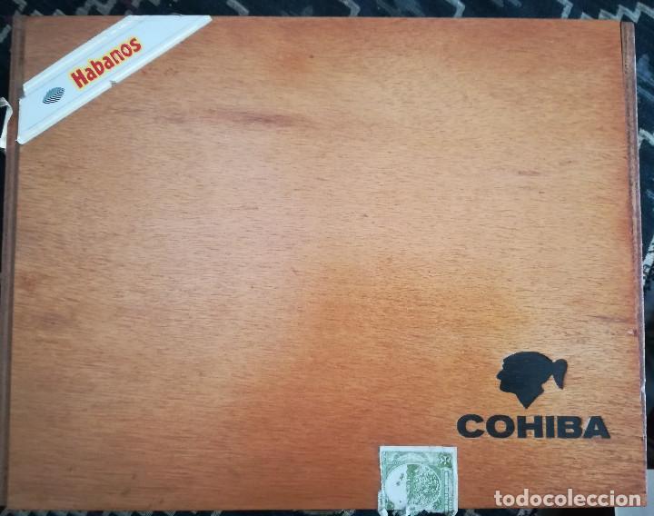 Cajas de Puros: Lote puros Cohiba Cuba,3 robustos+3 esplendidos+5 te amo n.7 México+ caja vacía de espledidos - Foto 2 - 171147007