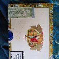 Cajas de Puros: CAJA DE MADERA VACIA DE PUROS HABANOS - REPUBLICA DE CUBA HABANA . ROMEO Y JULIETA. Lote 171201403